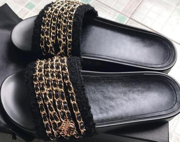 Sandalias planas de cuero genuino de gran tamaño2019 sandalias planas de lujo para mujer sandalias de goma causales de moda de playa al aire libre