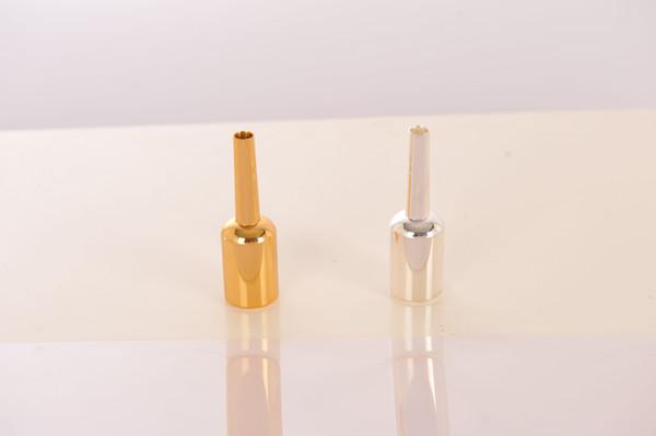 1 STÜCKE Neue Bb Trompete Metall Mundstück Versilbert Goldlack Oberfläche Trompete Instrument Zubehör Düse Keine 7C 5C 3C Freies Verschiffen