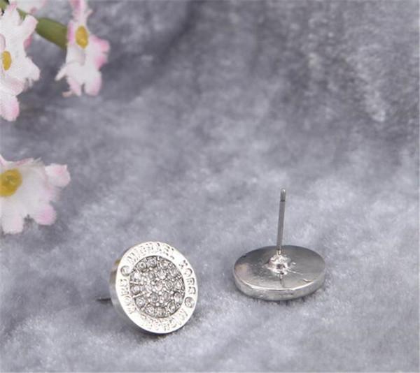 marque Hot saleMK Tone Boucles d'oreilles cristal de haute qualité pleine ronde mode Earings marque bijoux de mariage pour les femmes filles