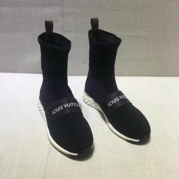 Ting2594 9831 Big Bottom Meias Alta Meias Sapatilhas Sapatos de Skate Skate Ballerina Flats Loafers Alpercatas Cunhas