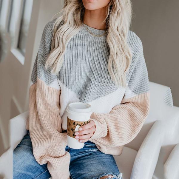Boho Herbst 2019 Elegant Lässig Plus Size Pullover Frauen Lose Dünne Wolle Rot Grau Afrikanische Mode Büro Damen Weibliche Tops