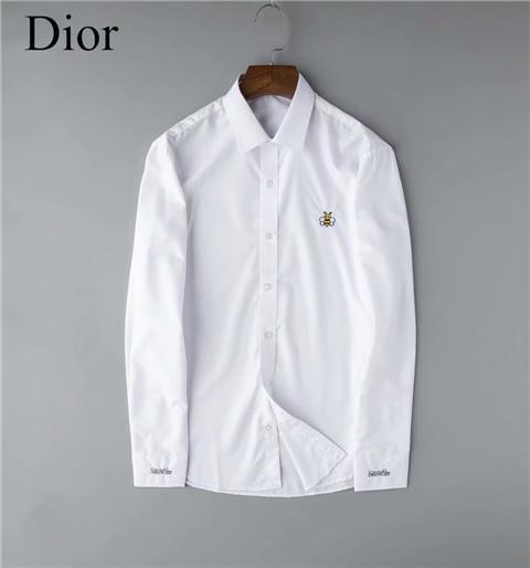 camisas ocasionales # HOT Paris Fashion Designers Christian D de los hombres de negocios vestido de manga larga 002 Francia lujos abejas Patrón tapas de la camisa de la medusa