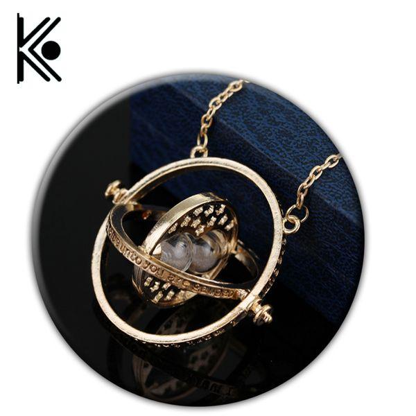 Envío gratis 20 unid Hermione Granger giratorio Horcrux Time Turner collar convertidor de tiempo Time-turner colgante collar MX190730