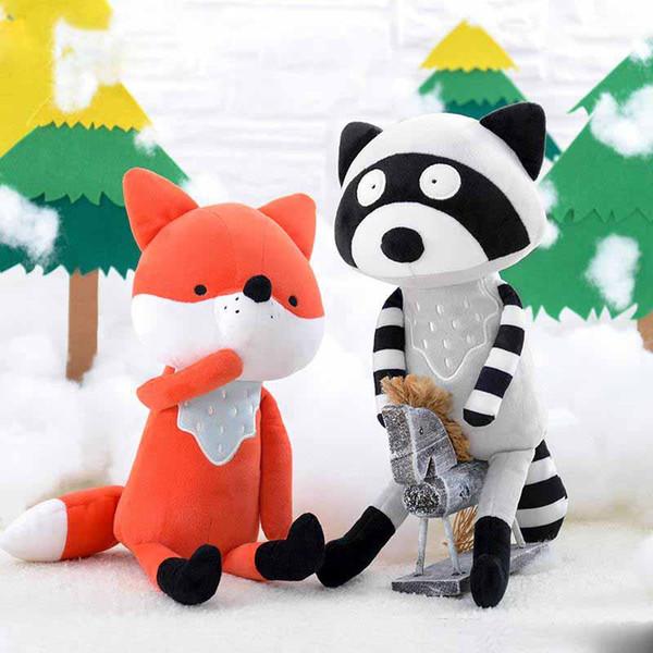 Puppe Stofftiere 2019 Hot Plüschtiere Weiche Kinder Baby Spielzeug für Mädchen Kinder Jungen Geburtstagsgeschenk Kawaii Cartoon Hot Fox koala
