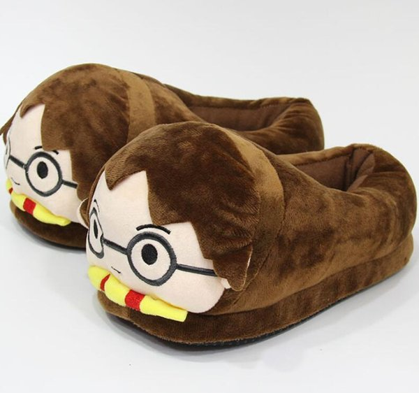 top popular Harry Potter Slipper Winter Plush Slippers Creative Couple Sandals Unisex Flat Home Shoes Cartoon Indoor Shoes new GGA2569 2020