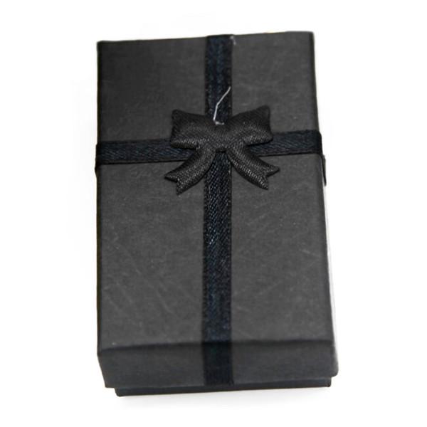5x Takı Yüzük Küpe Kolye Hediye Ekran Paketi Karton Sevimli Kılıf Kutu Siyah