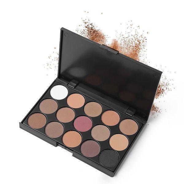 UCANBE Marca 5 Colores Paleta de Maquillaje de Sombra de Ojos 15 Color de la Tierra Mate Pigmento Brillo Ladrillo Rojo Sombra de Ojos Paletas Cosméticos Set