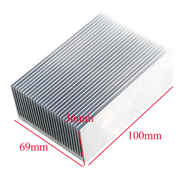 radiator heat sink 1pcs High- power electronic radiator heat sink fins fine-toothed 100 * 69 * 36MM