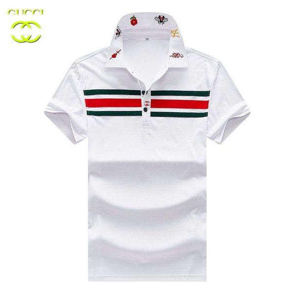 GG T shirt brand mens Tshirts fashion new famous designer Tshirt quality cotton mens lapel polo shirt classic bee embroidery logo tee