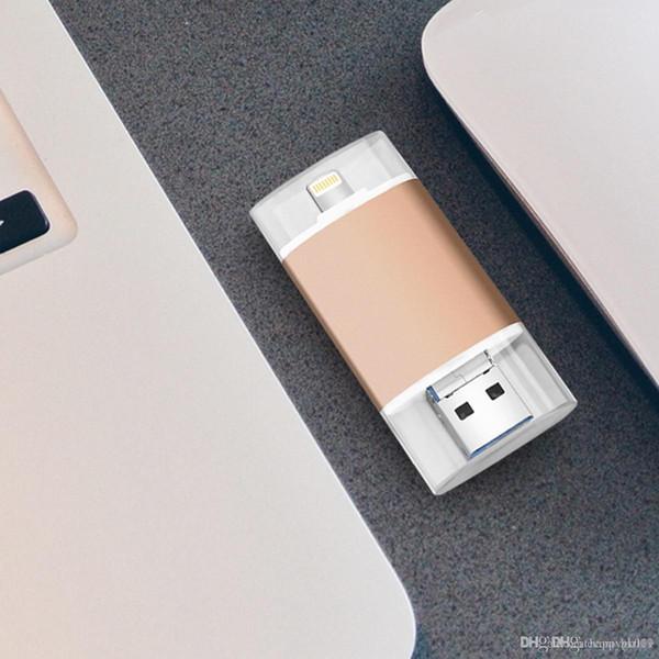 128gb OTG 3 in 1 USB Flash Drive Pen Drives USB 3.0 Memory Stick i-Flash Pendrives For iPhone 7/7Plus/5/5s/5c/6/6s Plus/ipad U57
