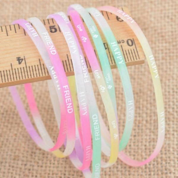 Голограмма браслеты силиконовая резина браслет гибкий браслет манжеты браслет Спорт Повседневная браслет для женщин мужчины