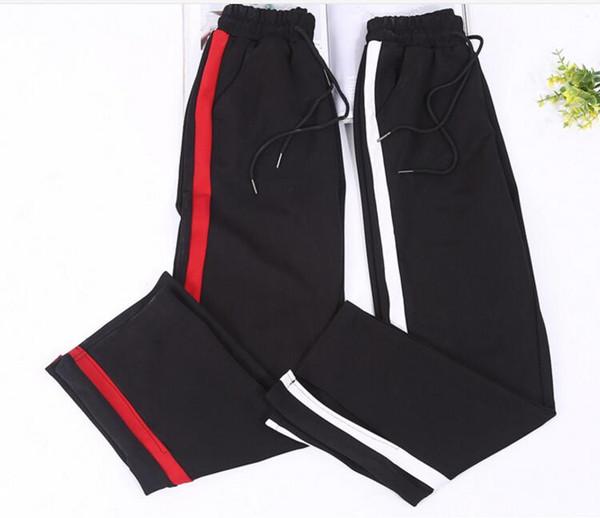 Pantalon large femmes Pantalons Bas Vêtements pour femmes Bande latérale haute taille élastique cordon Cordon femmes '; S Pant Pantac