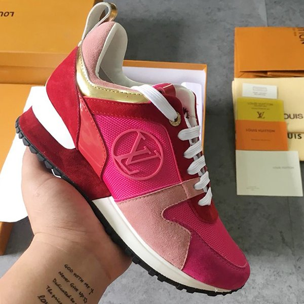 Women Shoes Run Away Sneaker Mixed Colors Suede Calf Leather Canvas Metal Sports Shoes Woman Flat Boots M#05 Style Summer 2019 Fashion Shoes