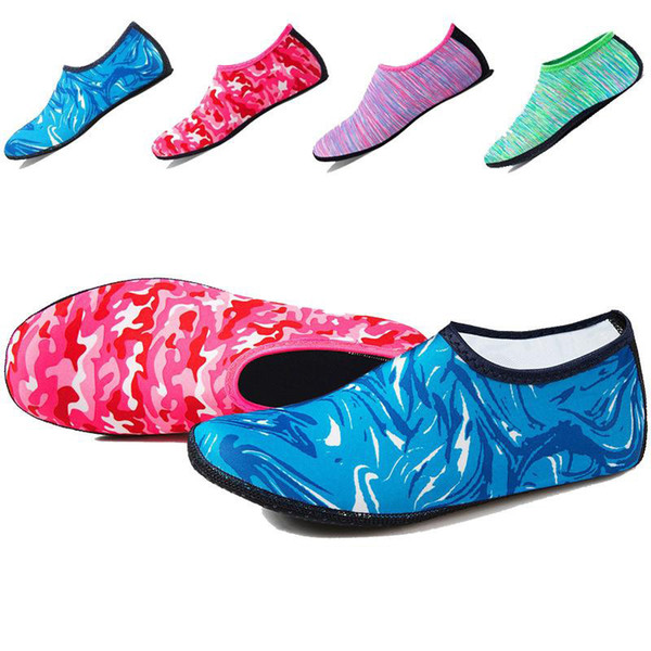 DHL Пляж Плавание Водные Спортивные Носки Дети Мужчины Женщины Подводное Плавание Противоскользящие Обувь Yoga Dance Серфинг Дайвинг Обувь Камуфляж Полосатый оптом
