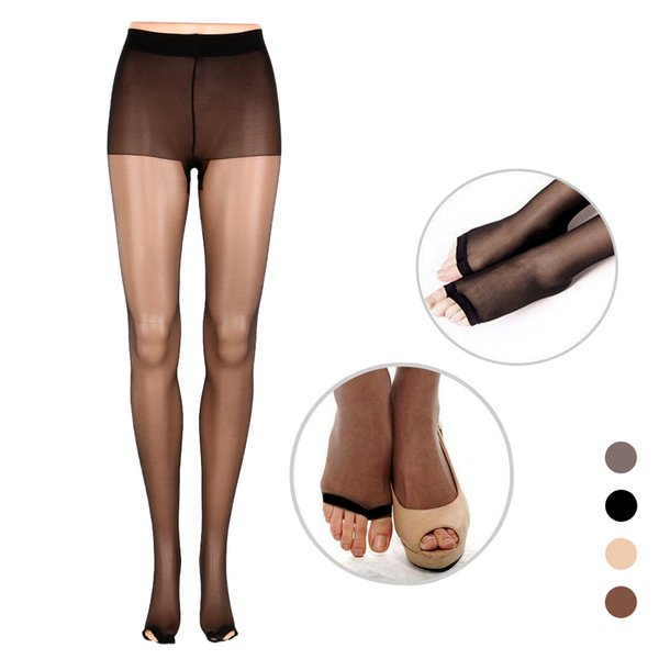 Summer Fashion Tights High Full Length Lady Stretchy Anti-off Silk Cored Wire Fish Head Open Toe Pantyhose For Woman Girl