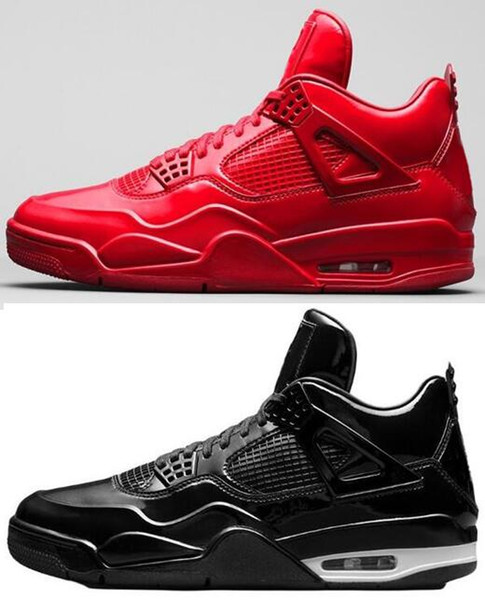 Meilleure Qualité 2019 4S 11Lab4 Rouge En Cuir Verni Chaussures De Basket-ball Hommes 4 11Lab4 Noir Sports Sneakers Avec Boîte