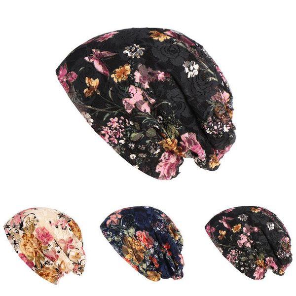 Nation Wind Set Head Cap Ma'am Flower Package Head Cap Spring Summer Lace Hats Nation Hat Woman Confinement Hat