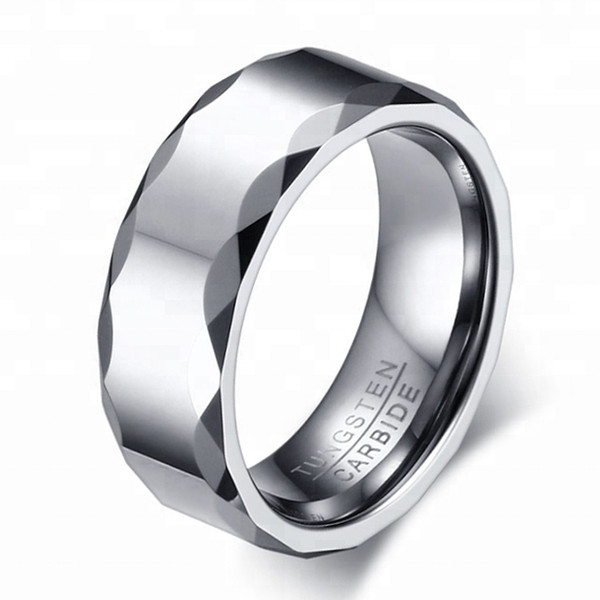 New style 8mm Men's jewelry Tungsten carbide Ring polished quality support small order
