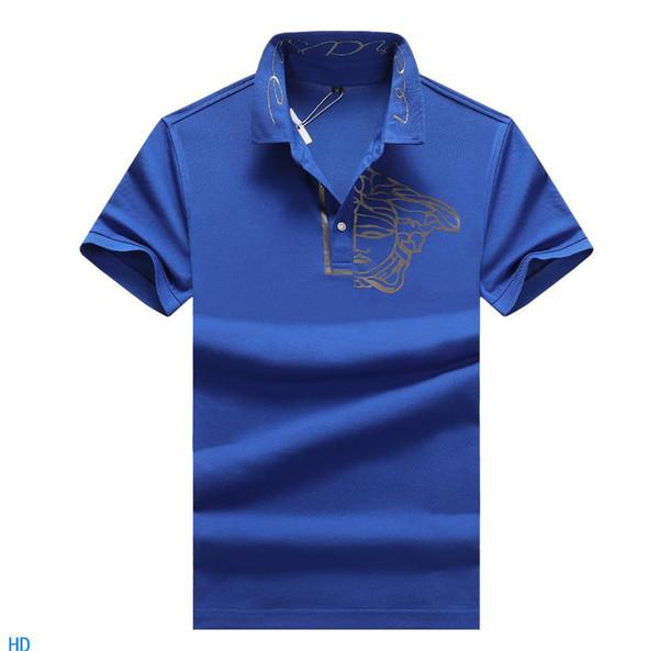 Mens 2019 Designer De Luxe En Coton De Haute Qualité Designer Polo Respirant Polo Pour Hommes Casual Hommes Designer T-shirts Asiatique Plus La Taille M-3XL