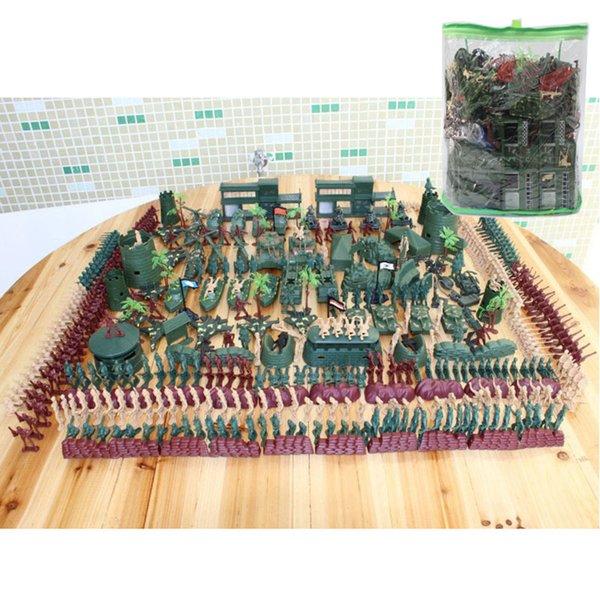500pcs / set Base militaire Nostalgiques Plastics Toy Soldiers Were 5cm Tableau de sable Model Army Soldier Boy Toy vacances