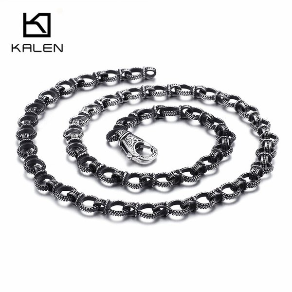 Punk Stainless Steel 70cm Long Link Chain Necklaces For Men 11mm Width Heavy Chunky Chain Necklace Male Jewelry Accessories