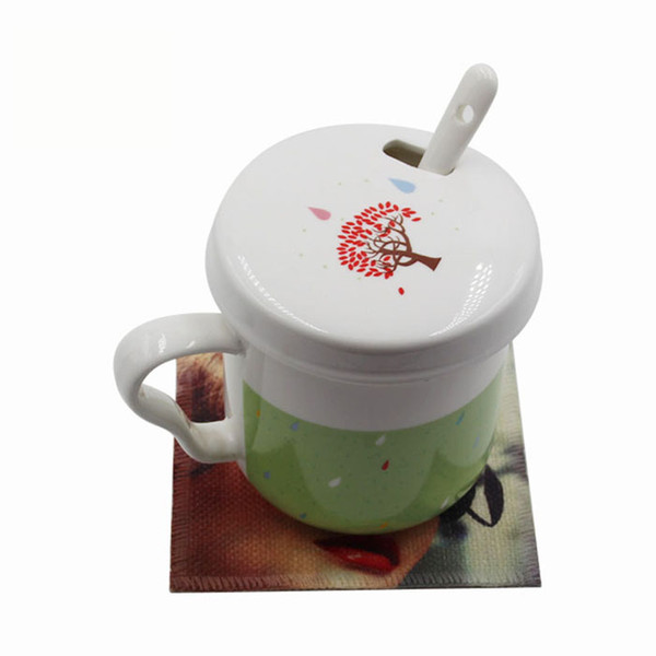 sublimation blank coasters cotton Linen coaster hot transfer printing square shape cup mats blank consumables