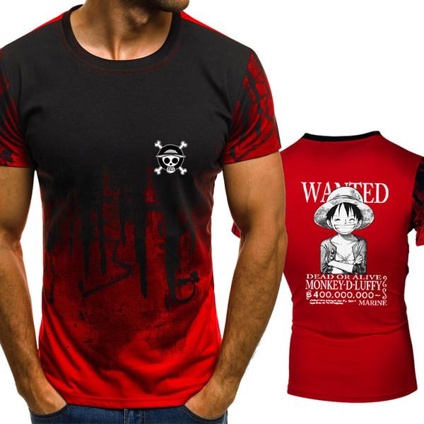 One Piece Anime Ruffy Chopper Farbverlauf T-Shirt Männer Schnelle Kompression Atmungsaktive Herren Oansatz Kurzarm Fitness T-Shirt Turnhallen T-Shirts