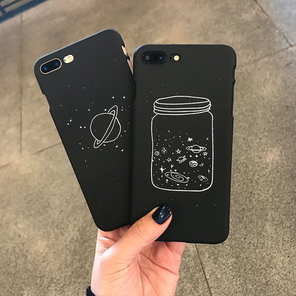 Custodia rigida 3D Outer Space Planet per IPhone X XS MAX XR 8 7 6 6S PLUS I Telefono X Xs 7plus 8plus Custodia Cover nera di lusso Custodia