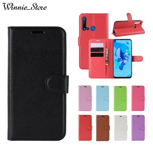 Para huawei p30 p20 pro lite p inteligente z plus 2019 virar capa de couro case com cartão de crédito suporte carteira saco de smartphones