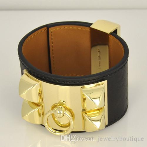 Горячие продажи CDC Новый дизайн Titanum стальной браслет с натуральной кожей во многих цветах Женщины и мужчины фирменные ювелирные подарки PS5375