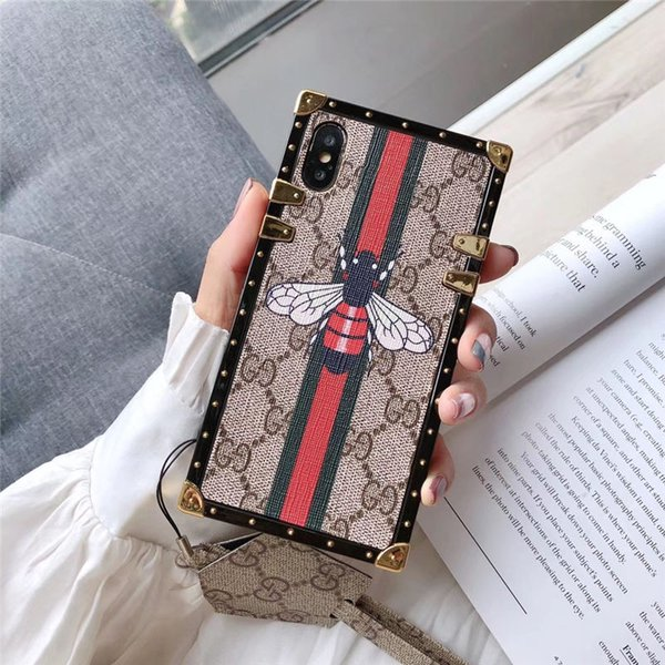One Piece cassa del telefono di lusso iphone xr per iPhone 7 8 più di moda Bee o designer serpente cover posteriore con la cordicella per il regalo