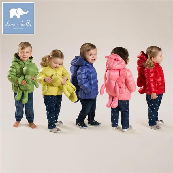 DB4669 Dave invernali bella ragazze cappotto bambino il bambino dei 11 di colore con le borse cappotto piume d'anatra bianca imbottita Outerwear