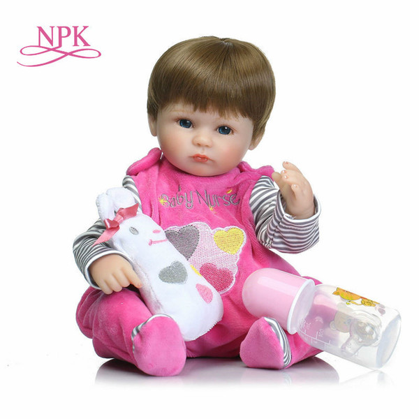 Npk 18inches 42cm Silicone Bonecas Baby Realistic Magnetic Pacifier Bebe Doll Reborn For Girl Gifts Toys Q190530