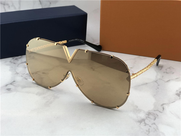 new fashion pilots style L0898 frameless reflective coating glass exquisite handmade anti-UV protection ourdoor Drive sunglasses