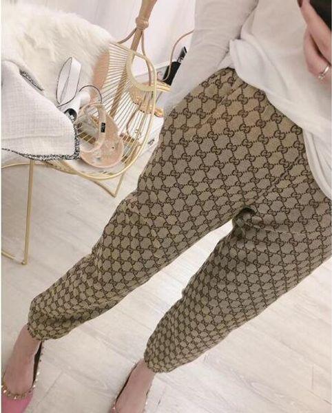 19ss femmes designer pantalons mode femme sport pantalon de jogging pantalon long taille élastique pantalones
