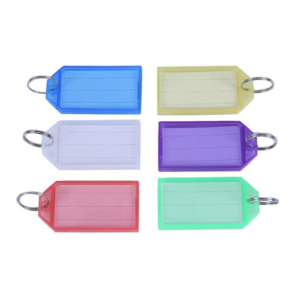 60pcs Multicolor chave de plástico Fobs bagagem ID Etiquetas com anéis-chave