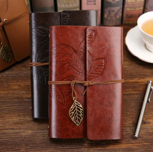 Vintage Travelers Hardcover Notebook Diary Notepad PU Leather Spiral Literature Notebooks Paper Journals Planners School Stationery Gift
