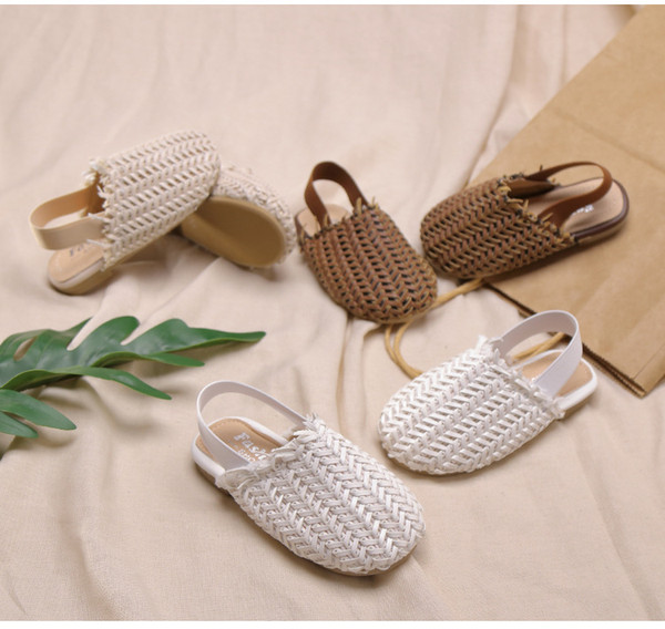 New Weaved Slippers Softsole Sandals for Summer 2019 Comfortable Children's Shoes Fashionable Children's Shoes Wear Resistance