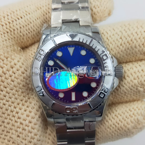 40mm Mens Watches Blue Dial Silver Bezel Sapphire 316L Stainless Steel Watch Case Bracelet Miyota Automatic Wristwatches With Watch Box Z7