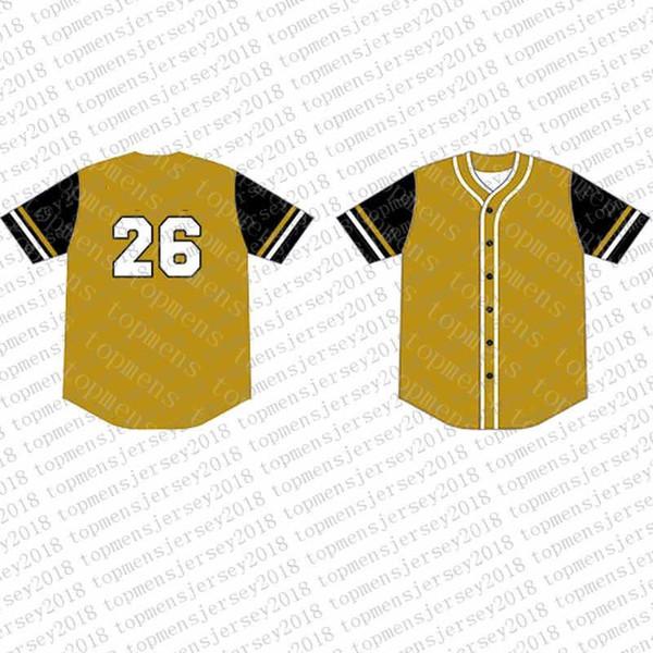 Top Custom Baseball Jerseys para hombre Bordado Logos Jersey Envío gratis Barato al por mayor Cualquier nombre cualquier número Tamaño M-XXL 41