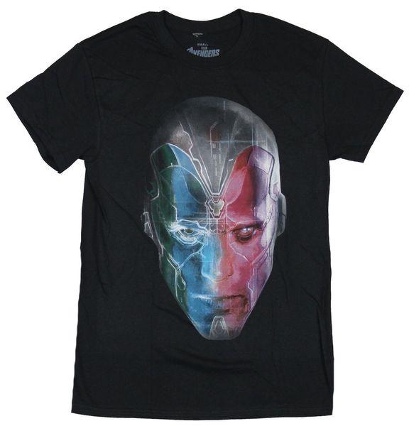 Vison of the Avengers Mens T-Shirt - Computer Circuitry Vison Face Image Men Women Unisex Fashion tshirt Free Shipping Funny Cool