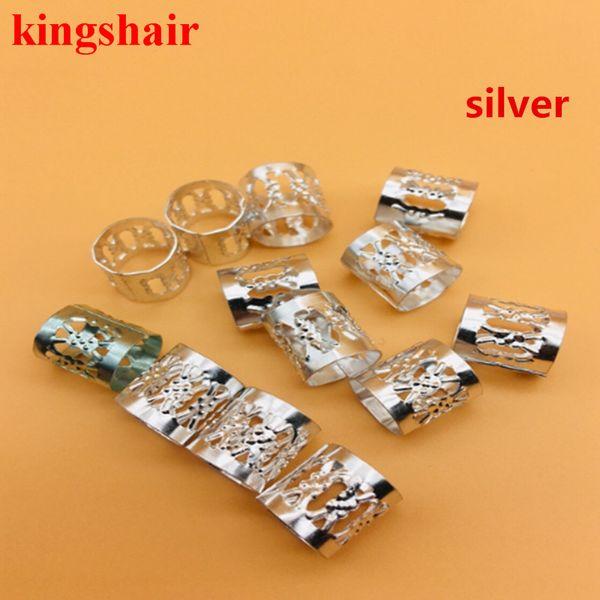 100pcs / lot réglable argent or enfants boîte dread dreadlock dreadlock perles poignets clips micro anneau perles accessoires