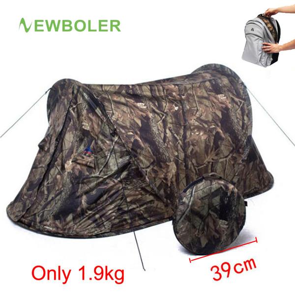 Tenda da caccia ultraleggera per tenda da campeggio con camuffamento 1 persona 20D Tiro con impugnatura portatile impermeabile esterna per escursionismo automatico