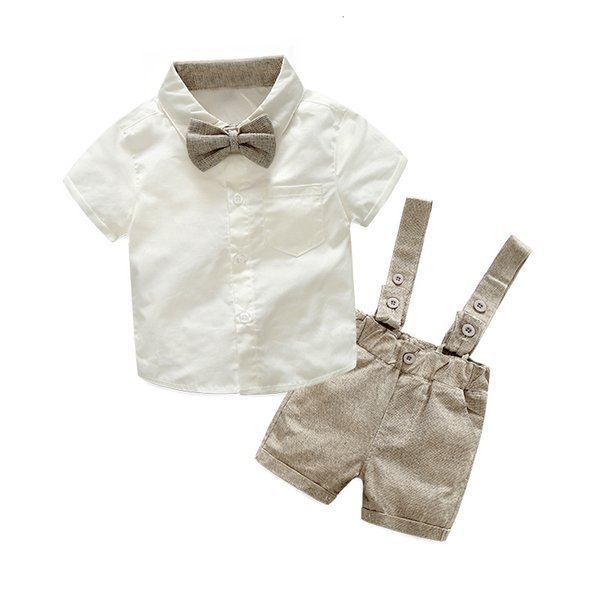 Tem Doger Toddler Little Boys Long Sleeve One Pocket Button Down Plaid Cotton Bow Tie Shirts Blouse