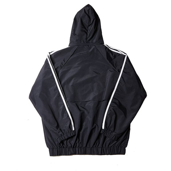 Palaces 18ss striped letters embroidered men and women sports waterproof windproof hooded jacket sports casual jacket