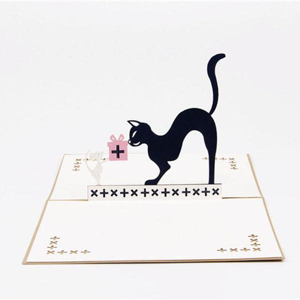 Compre Tarjeta De Felicitación De Cumpleaños De Gato Emergente 3d Gato Tarjeta De Felicitación De Dibujos Animados Tom Y Jerry Para El Día Del Niño