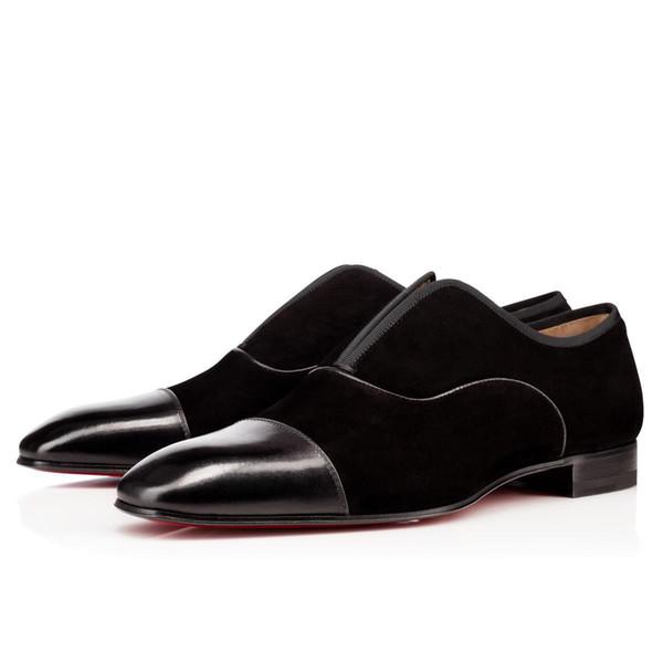 Diseñador popular Fiesta Vestido de negocios Fondo rojo Alfa Hombre Oxford Plano Hombres de alta calidad Ocio Slip On Mocasines Zapatos de ocio