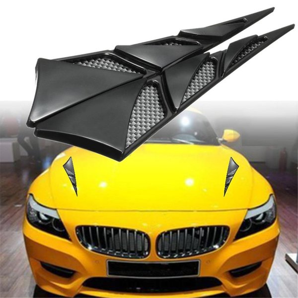 New Universal Car Hood Side Air Intake Flow Vent Cover Decorative Sticker Car's Fashion Sticker