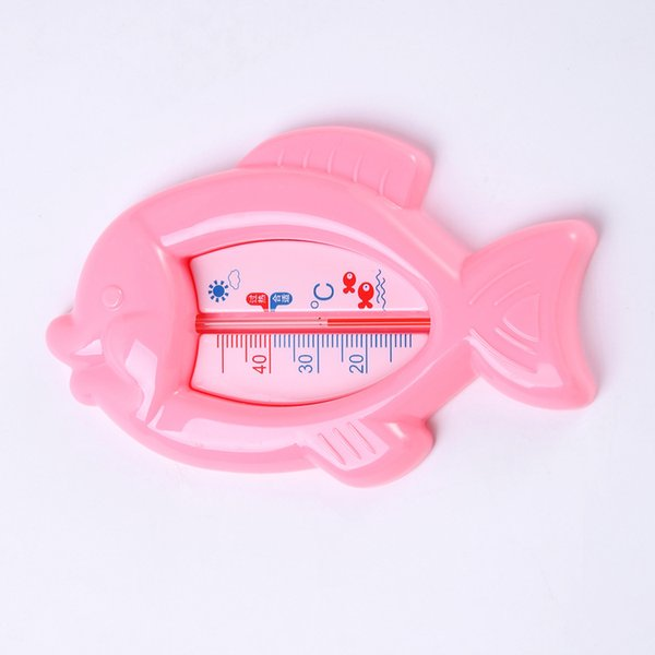 Both Wet And Dry Safty Baby Cartoon Small Fish Water Thermometers Fish Baby Thermometers Pink Blue Green Animal Babies Bathing Thermometer