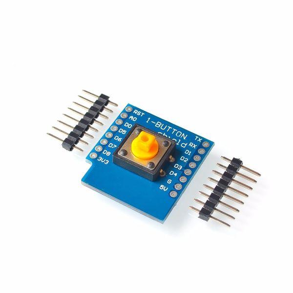 10set/lot One Button Shield For WeMos D1 Mini Button For Wemos Diy Electronic PCB Board D1 Mini Module